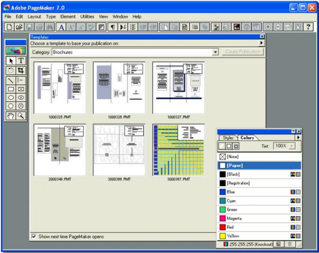 Large screenshot for Adobe PageMaker.