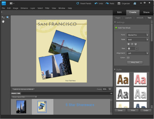Large screenshot for Adobe Photoshop Elements.