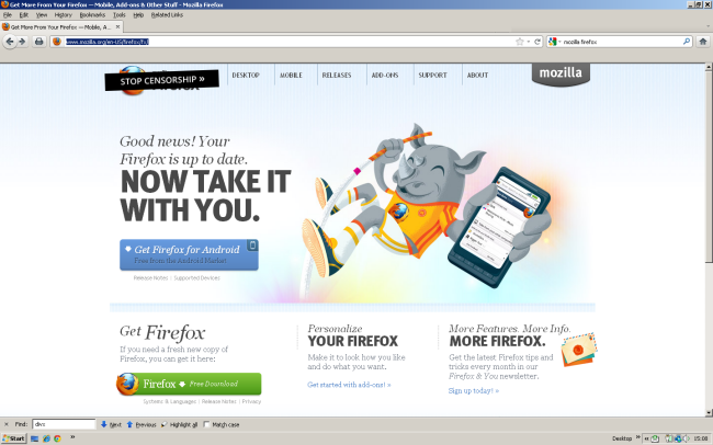 Large screenshot for Mozilla Firefox.