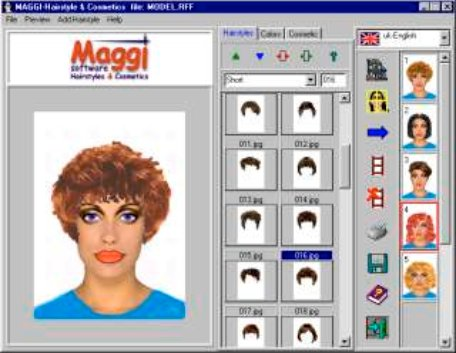 Large screenshot for MAGGI - Hairstyles & Cosmetics Software.