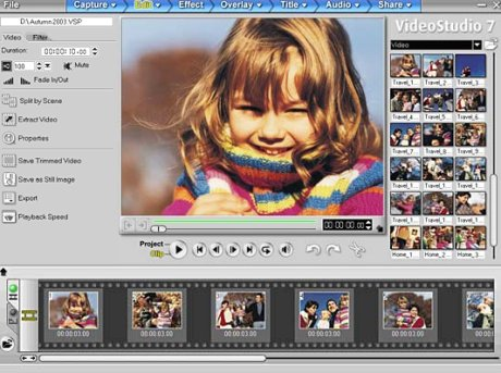 Large screenshot for Ulead VideoStudio.