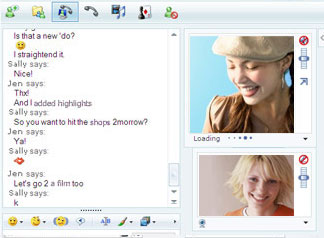 Large screenshot for Windows Live Messenger.