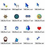 Small screenshot for 3D Blue Animated Cursors.