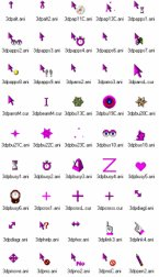 Small screenshot for 3D Purple Animated Cursors.