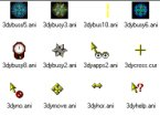 Small screenshot for 3D Yellow Animated Cursors.