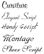 Small screenshot for Absolute Script Fonts.