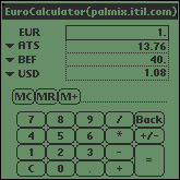 Small screenshot for Euro Calculator.