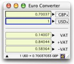 Small screenshot for Euro Converter.