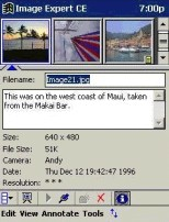 Small screenshot for Image Expert CE (Pocket PC).