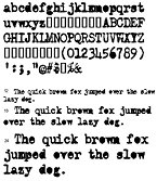 Small screenshot for Old Typewriter TrueType Fonts.