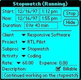 Small screenshot for Time Logger.